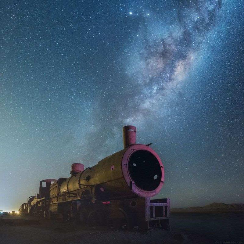 Beautiful Milky Way Reflected Photos Beautiful Milky Way Reflected in Bolivia Salt Flats by Daniel Kordan