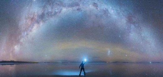 Beautiful Milky Way Reflected in Bolivia Salt Flats by Daniel Kordan