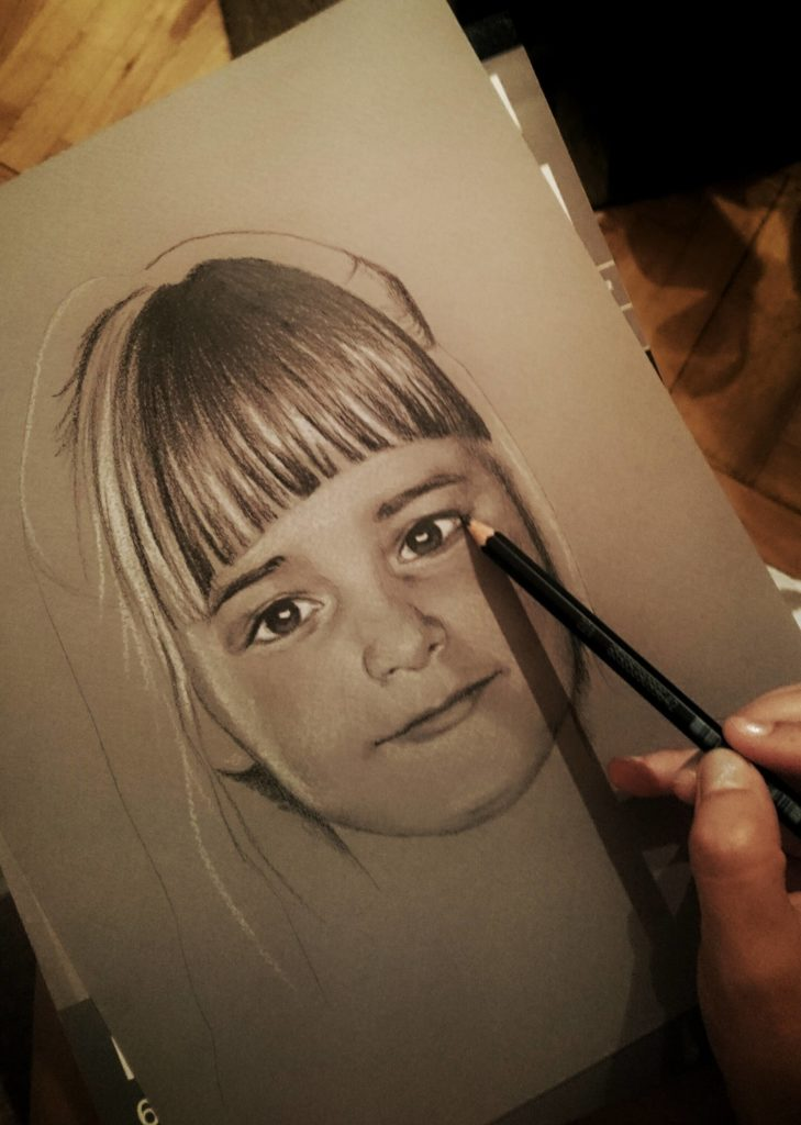 Beautiful Portrait by Self Taught Artist Aleksandra Janeković
