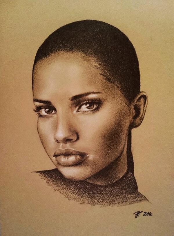 Detailed Portrait Painting By Aleksandra Janekovic Sribar