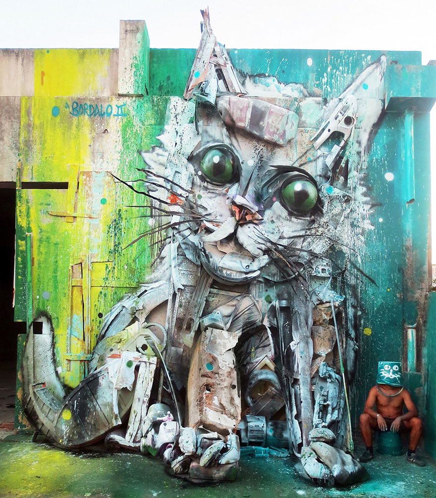Amazing trash animal sculpture artur bordalo Creative Solutions To Remind Us About Pollution