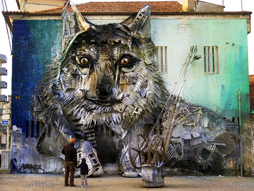 Creative solutions trash animal sculpture artur bordalo 33 Creative Solutions To Remind Us About Pollution