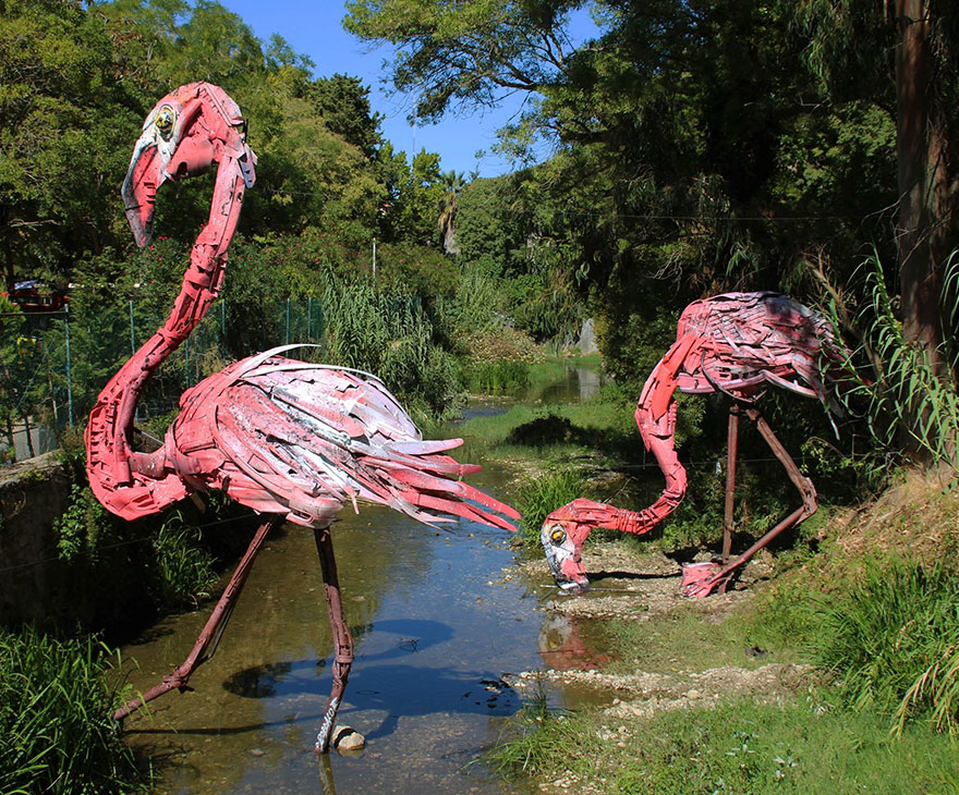 Creative solutions trash animal sculpture artur bordalo 44 Creative Solutions To Remind Us About Pollution