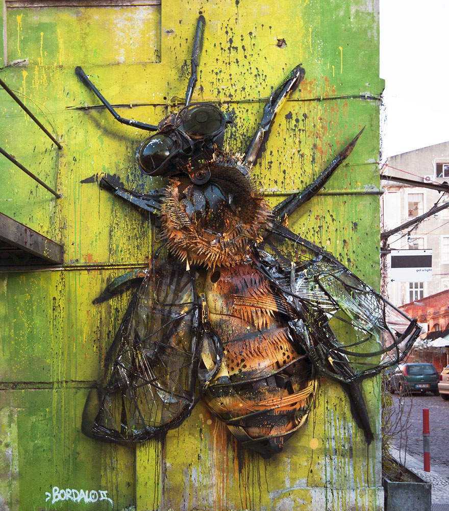 Creative solutions trash animal sculpture artur bordalo 55 Creative Solutions To Remind Us About Pollution