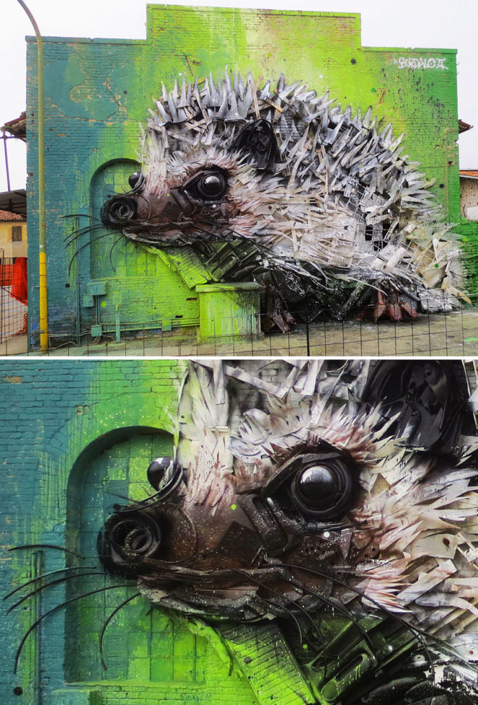Creative solutions trash animal sculpture artur bordalo 695x1024 Creative Solutions To Remind Us About Pollution