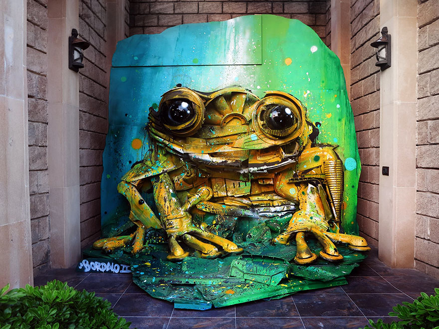 trash animal sculpture artur bordalo 77 Creative Solutions To Remind Us About Pollution