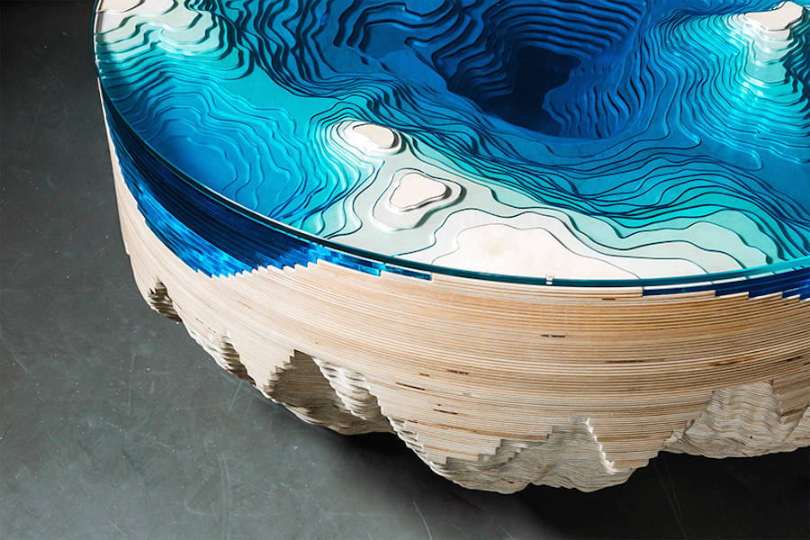 Abyss Horizon Stunning Table by Duffy London Abyss Horizon: The Unique Ocean Inspired Coffee Table