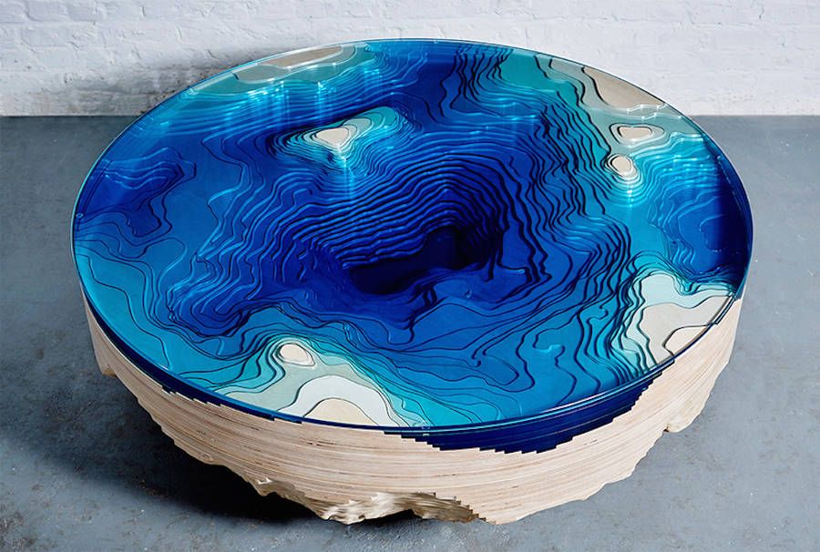 Abyss Horizon Table by Duffy London Abyss Horizon: The Unique Ocean Inspired Coffee Table