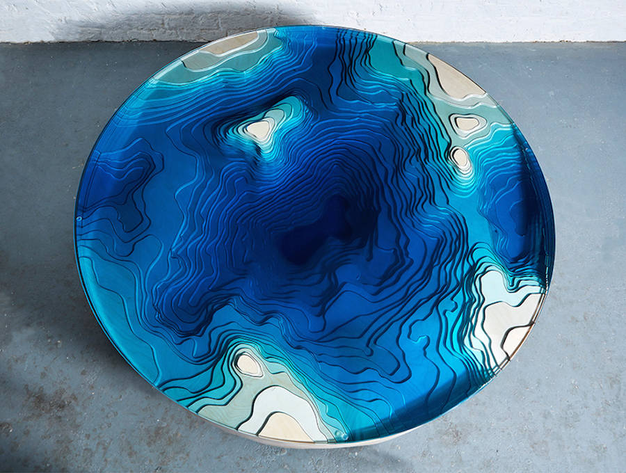 Abyss Horizon Unique Table by Duffy London Abyss Horizon: The Unique Ocean Inspired Coffee Table