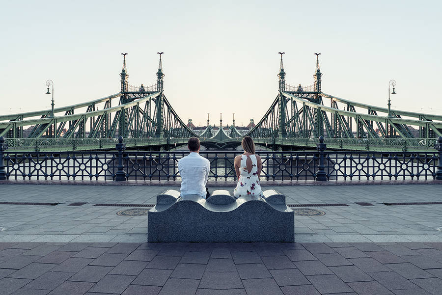 Beauty Symmetrical Pictures of a Couple 9 Beauty Symmetrical Pictures of a Couple by Zsolt Hlinka