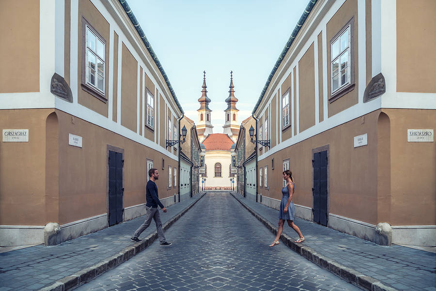 Romantic Symmetrical Pictures of a Couple 1 Beauty Symmetrical Pictures of a Couple by Zsolt Hlinka