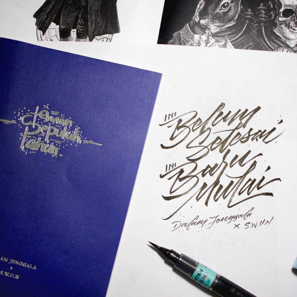 Stunning Hand Lettering Ideas 2 1024x1024 35 + Beautiful Hand Lettering Styles by Dimaz Fakhruddin