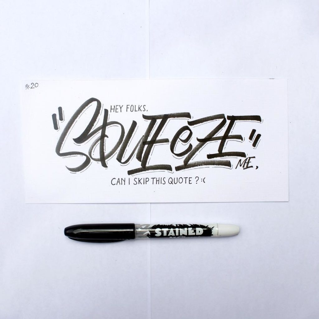 Stunning Hand Lettering Ideas 4 1024x1024 35 + Beautiful Hand Lettering Styles by Dimaz Fakhruddin