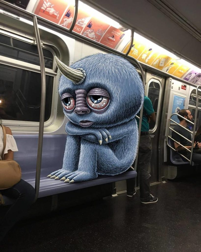 Stunning Monsters Doodles Ideas 819x1024 Funny Monsters Doodles in New York Subway by Ben Rubin