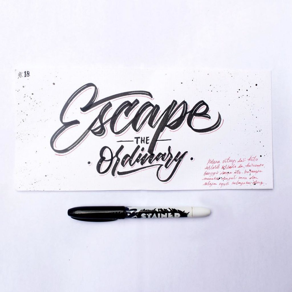 Wonderful Hand Lettering Examples 3 1024x1024 35 + Beautiful Hand Lettering Styles by Dimaz Fakhruddin