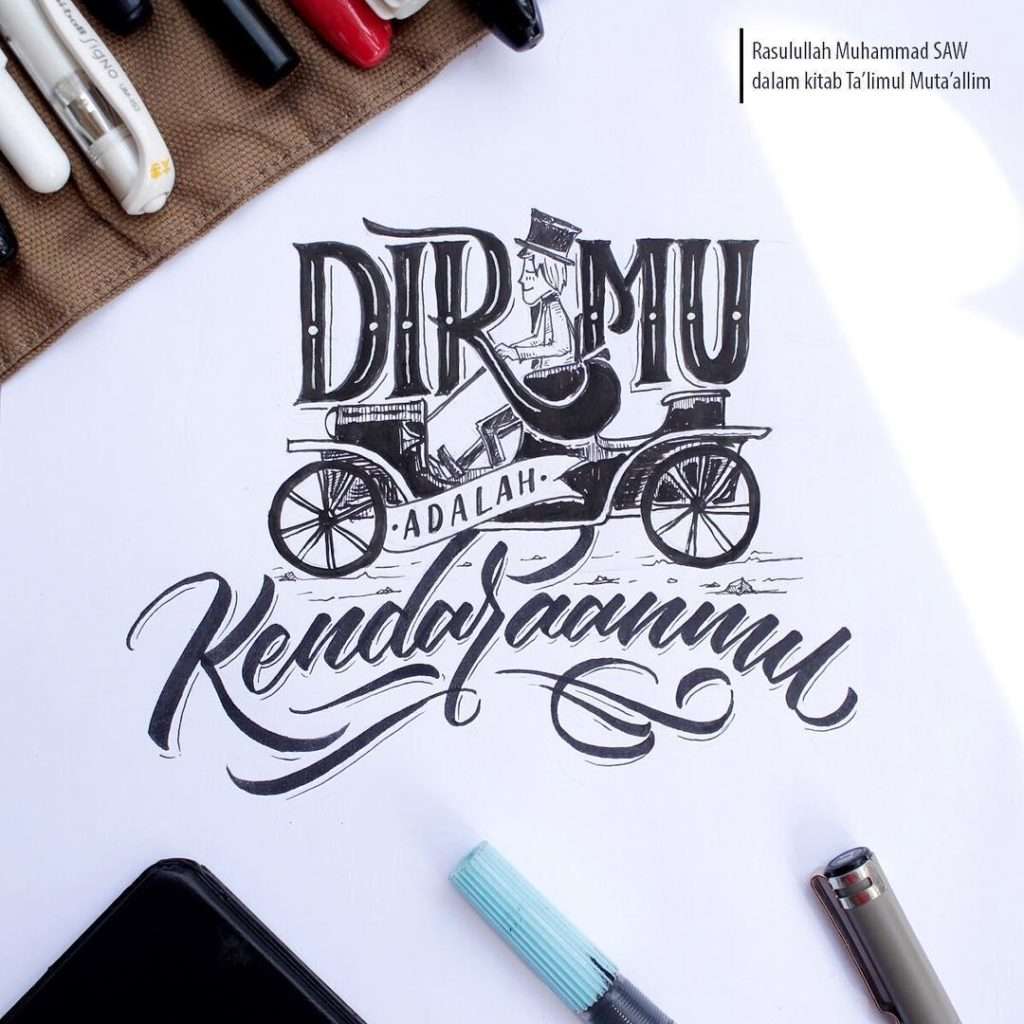Wonderful Hand Lettering Examples 44 1024x1024 35 + Beautiful Hand Lettering Styles by Dimaz Fakhruddin