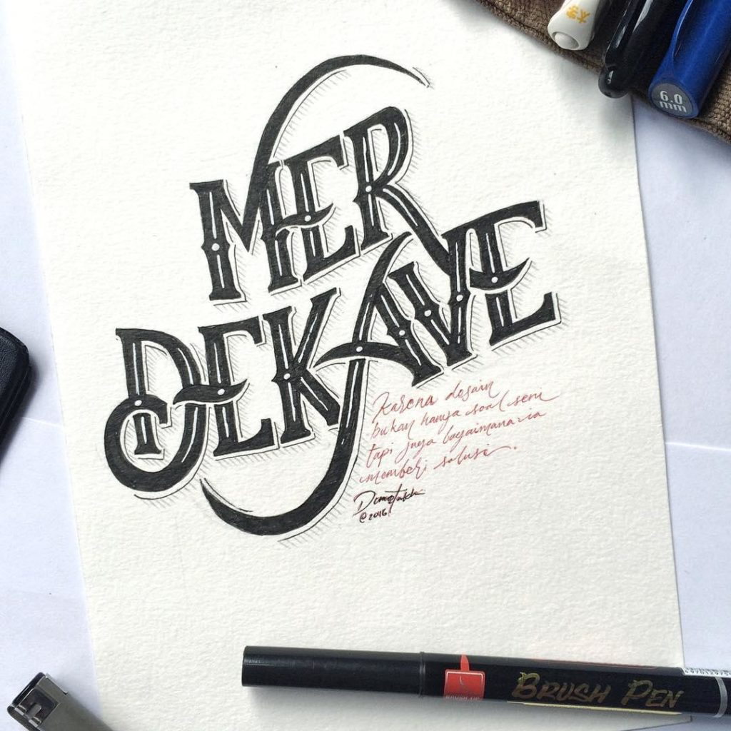 Wonderful Hand Lettering Styles by Dimaz Fakhruddin 1024x1024 35 + Beautiful Hand Lettering Styles by Dimaz Fakhruddin
