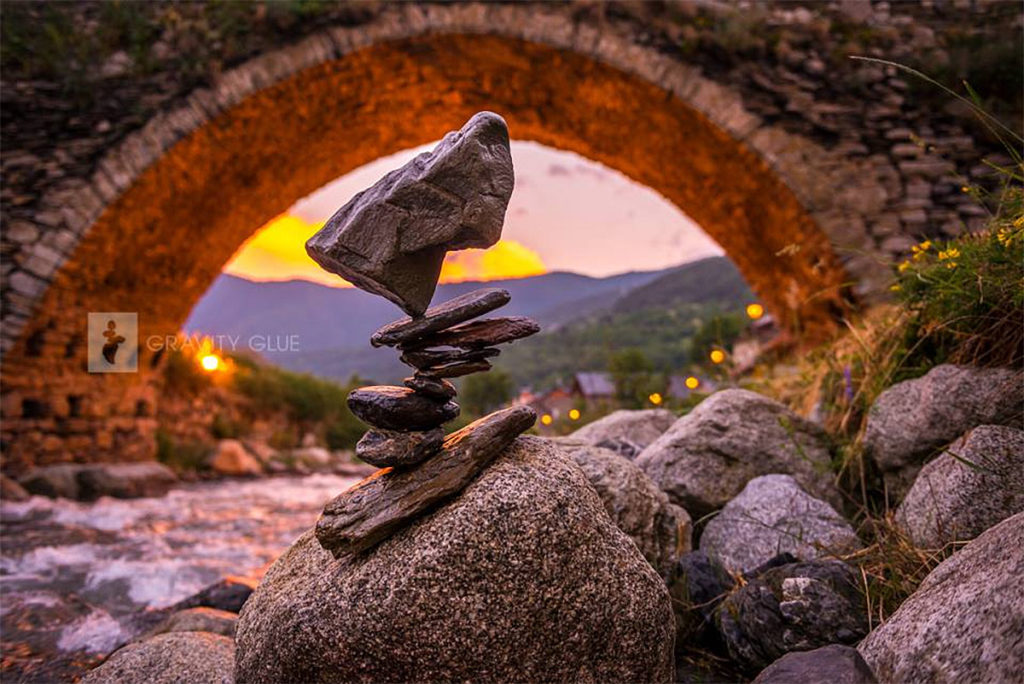 Amazing Stone Stacking Art by Michael Grab 1024x684 Gravity Glue: Stone Stacking Art by Michael Grab