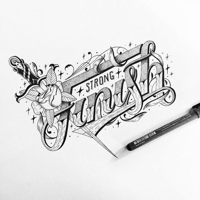 Beautiful Hand Lettering Artworks by Raul Alejandro 20+ Detailed Hand Lettering Artworks by Raul Alejandro