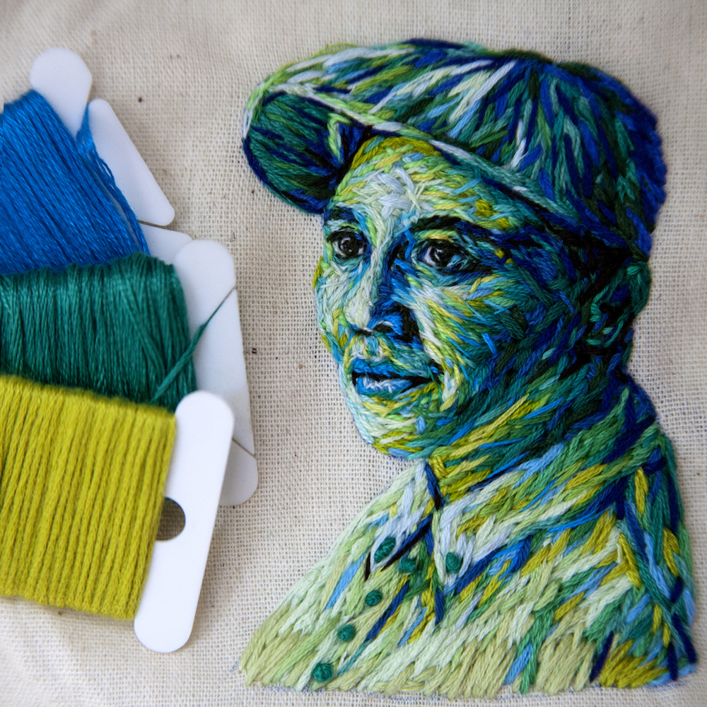 Beauty Embroidered Fiber Art by Danielle Clough 99 Creative Art : Embroidered Fiber Art by Danielle Clough