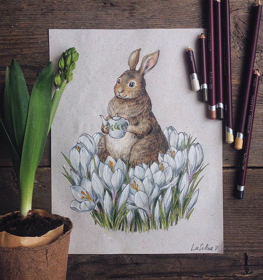 Beauty Fairytale Inspired Color Pencil Drawings by Lia Selina Fairytale Inspired Color Pencil Drawings By Russian Artist