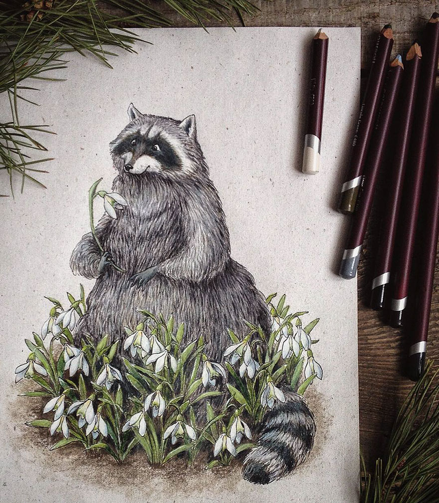 Creative Color Pencil Drawings Idea Fairytale Inspired Color Pencil Drawings By Russian Artist