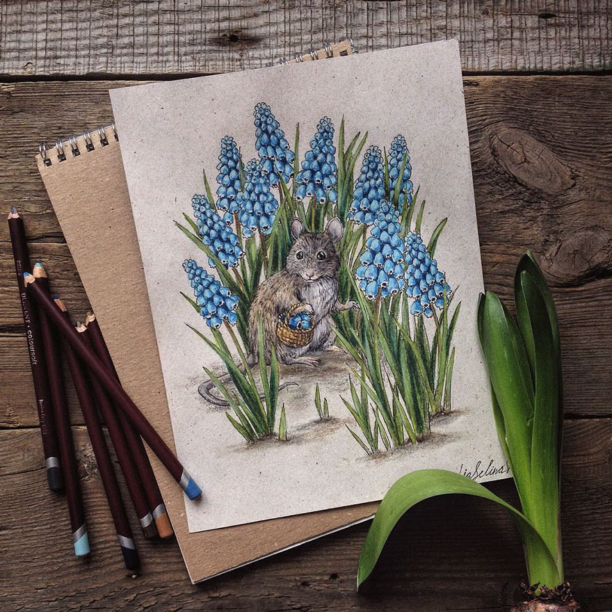 Creative Color Pencil Drawings Ideas Fairytale Inspired Color Pencil Drawings By Russian Artist