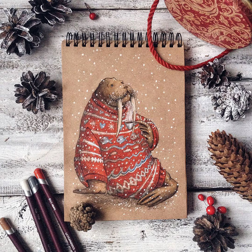 Creative Color Pencil Drawings by Lia Selina Fairytale Inspired Color Pencil Drawings By Russian Artist
