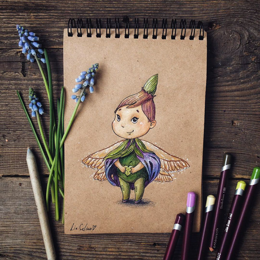 Cute Color Pencil Drawings Ideas Fairytale Inspired Color Pencil Drawings By Russian Artist