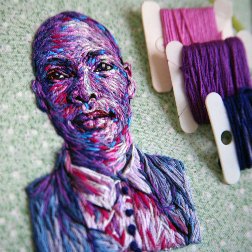 Embroidered Fiber Art by Danielle Clough 99 Creative Art : Embroidered Fiber Art by Danielle Clough