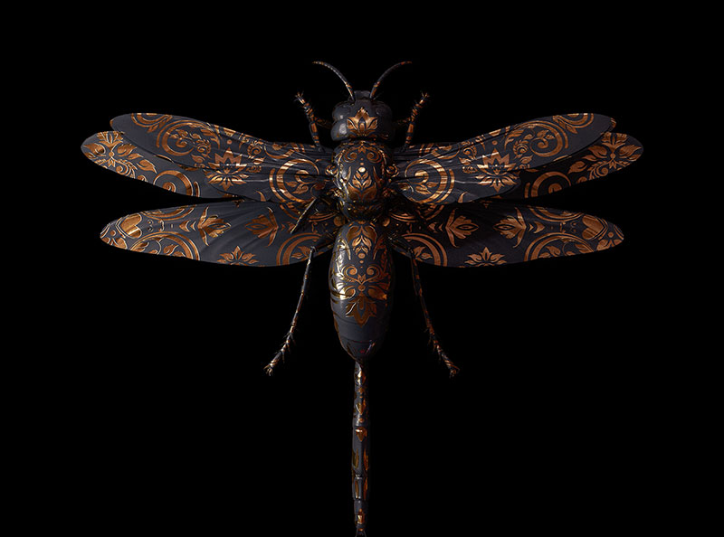 Engraved Entomology Beauty Digital Illustrations by Billelis Engraved Entomology: Stunning Digital Illustrations by Billelis