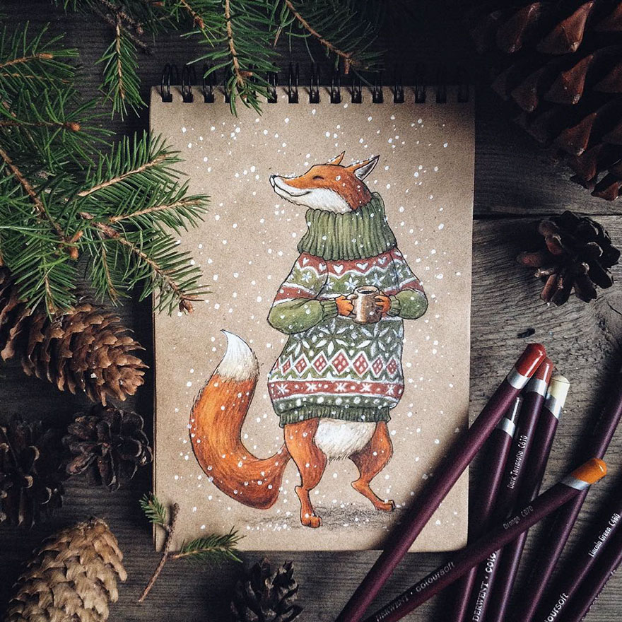 Fairytale Inspired Color Pencil Drawings by Lia Selina Fairytale Inspired Color Pencil Drawings By Russian Artist