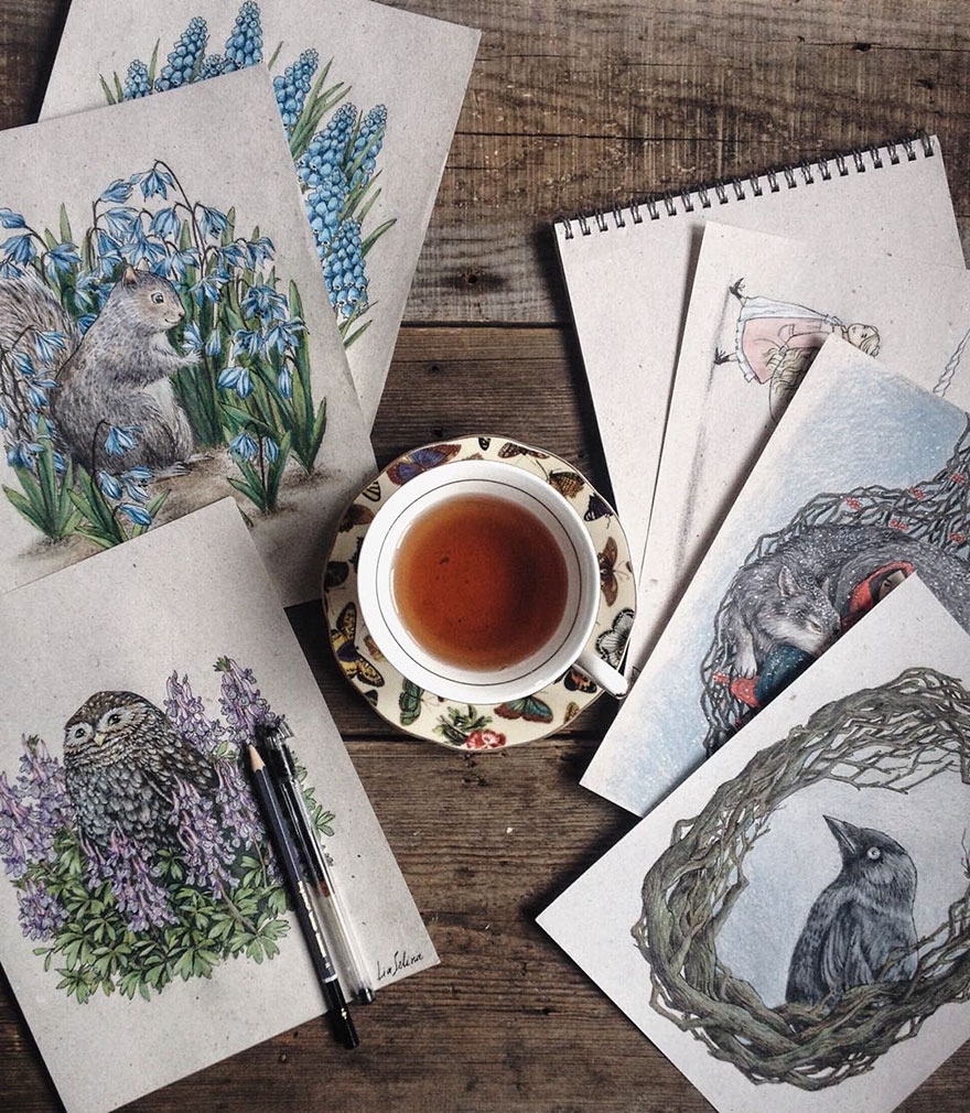 Wonderful Color Pencil Drawings by Lia Selina Fairytale Inspired Color Pencil Drawings By Russian Artist