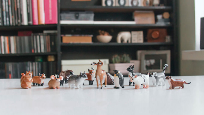 Adorably Tiny Polymer Clay Animals by Ramalama Creatures Adorably Tiny Polymer Clay Animals That Fit on Your Fingertips