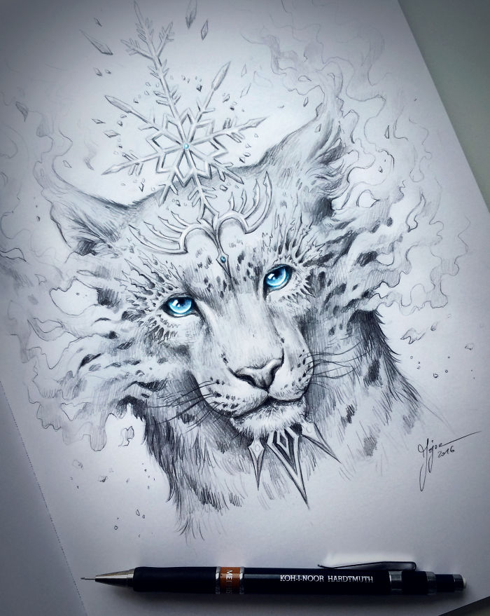 Enchanting Animals Fantasy Art By Jonas Jodicke 99inspiration