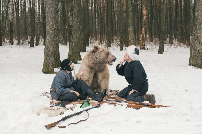 Olga Barantseva Captures Modelling with Real Life Bear Olga Barantseva Captures Dreamlike Scenes With a 700 Kilogram Bear