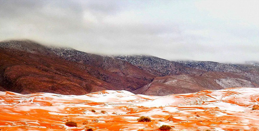 Snow Falls In The Sahara 5 Snow Falls In The Sahara For First Time In Over 37 Years