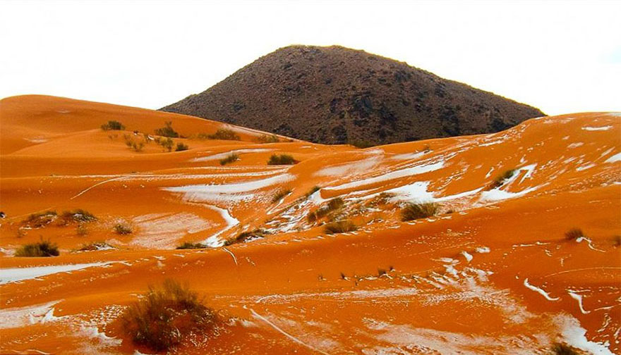 Snow Falls In The Sahara For First Time 3 Snow Falls In The Sahara For First Time In Over 37 Years