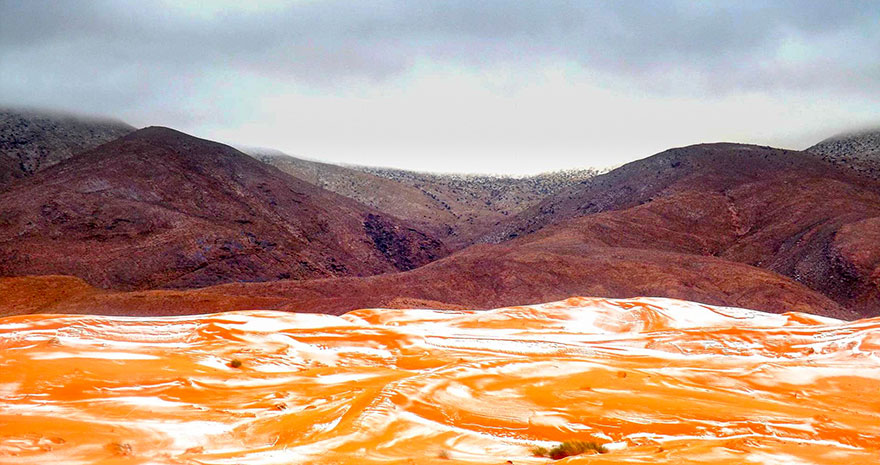 Snow Falls In The Sahara For First Time Snow Falls In The Sahara For First Time In Over 37 Years