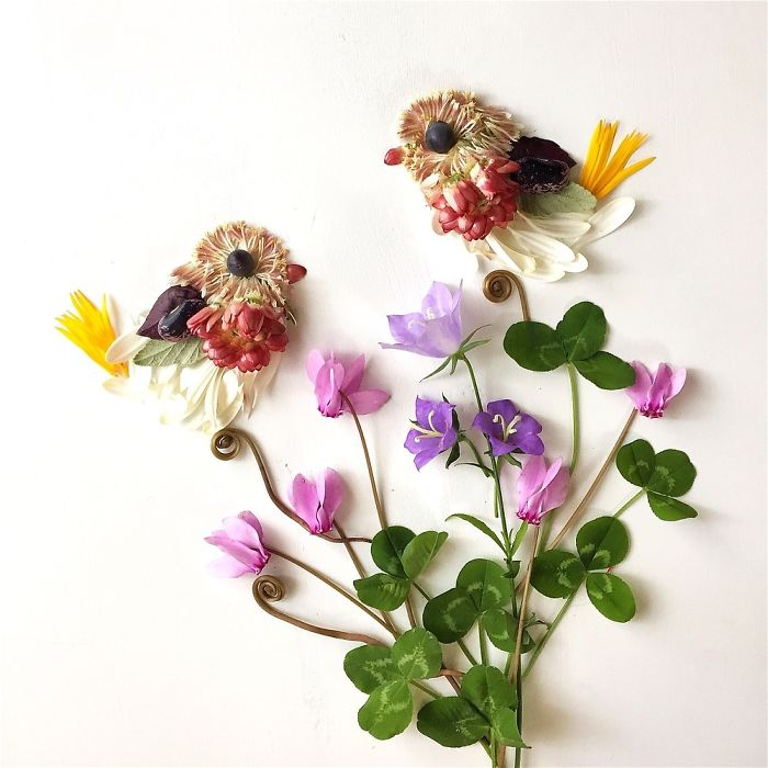 Turns Flowers Into Beautiful Paintings 3 This Artist Turns Flowers Into Beautiful Paintings