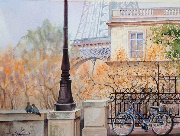 Wonderful European Cityscape Watercolor Painting by Igor Dubovoy 99 Stunning European Cityscape Watercolor Painting by Igor Dubovoy
