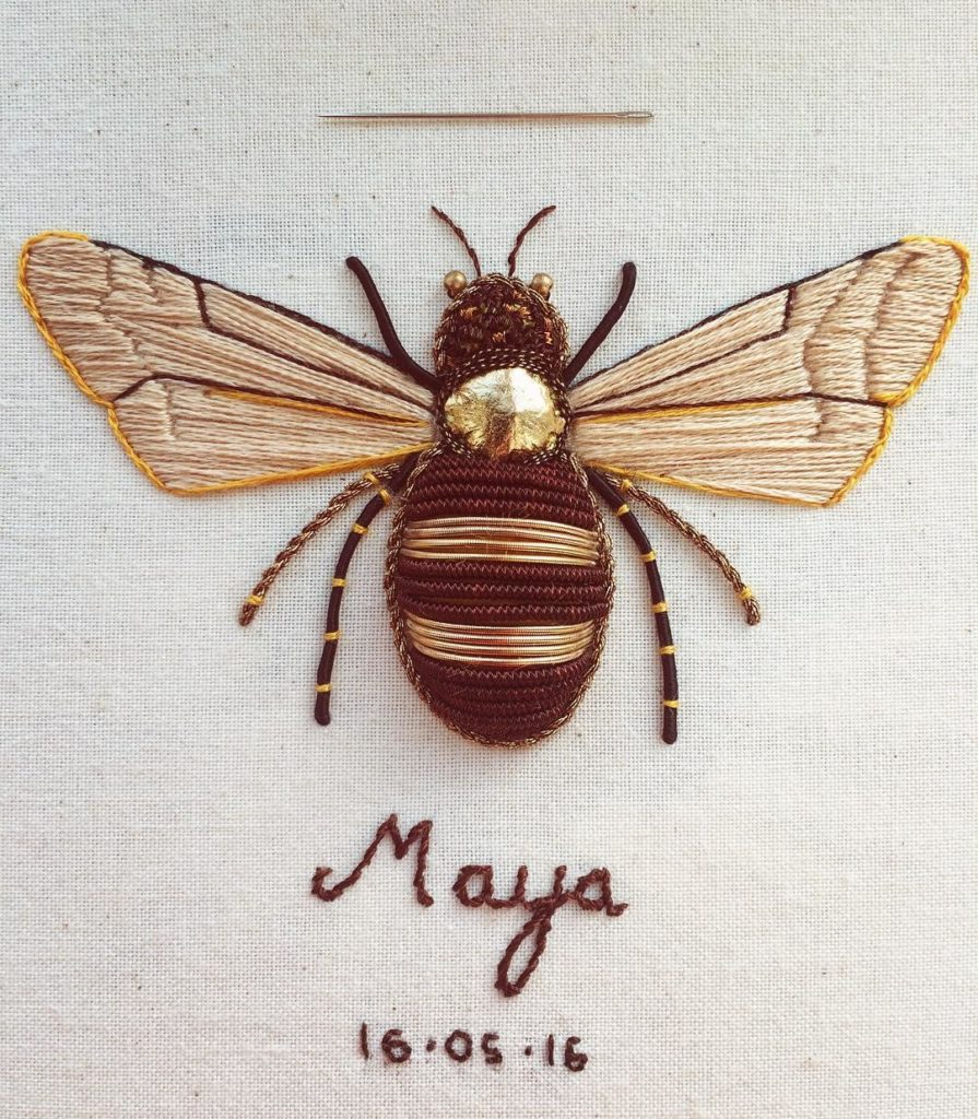 Beautiful Intricate Embroideries of Insects 895x1024 This Artist Creates Beautiful Intricate Embroideries of Insects