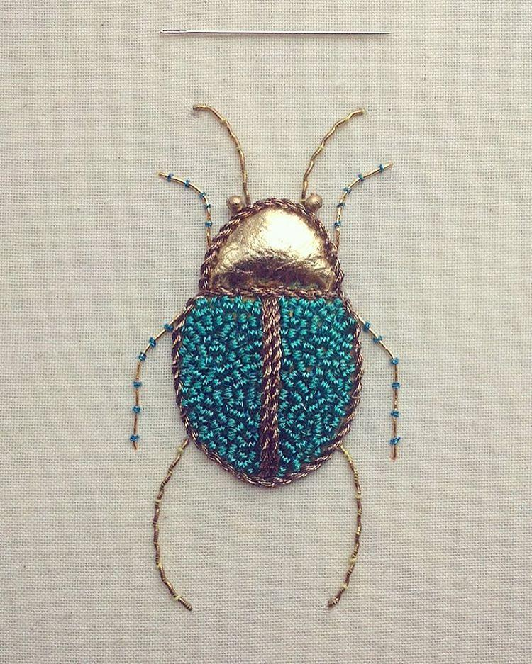 Beautiful Intricate Embroideries of Insects 99 This Artist Creates Beautiful Intricate Embroideries of Insects