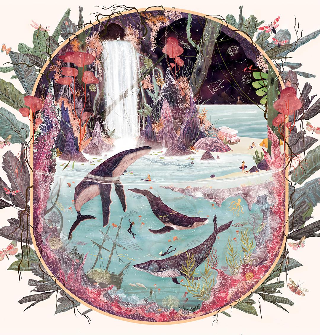 Svabhu Kohli's : Beautiful Splendor of Nature Comes to Life in Surreal Illustrations
