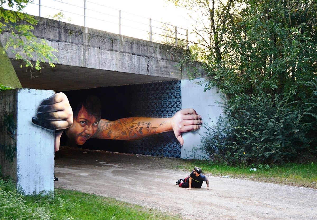 Brilliant And Interactive Street Art By Caiffa Cosimo