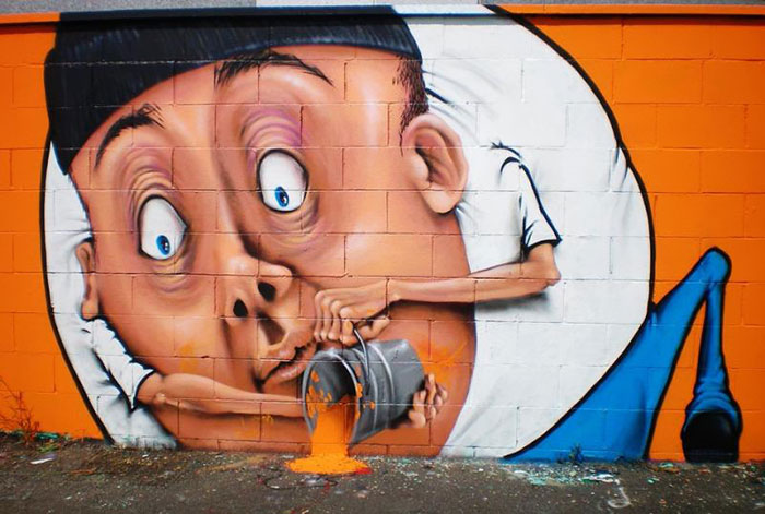 Brilliant Street Art By Caiffa Cosimo 99 Brilliant And Interactive Street Art By Caiffa Cosimo