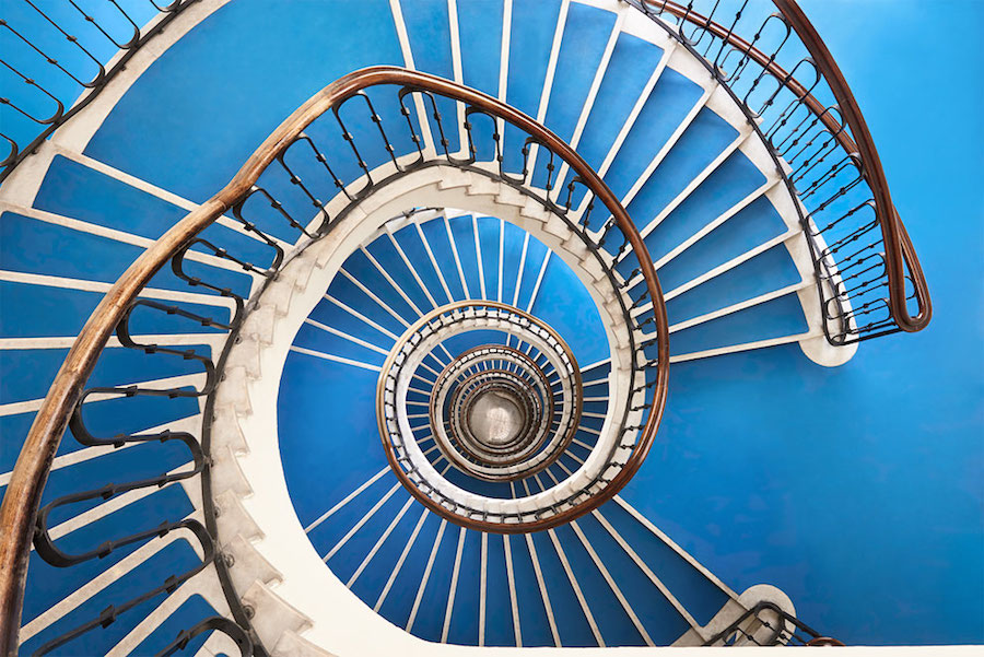 Explore Spiral and Geometric Budapest's Bauhaus staircases Shot From Above Explore Spiral and Geometric Budapest's Bauhaus Staircases Shot From Above