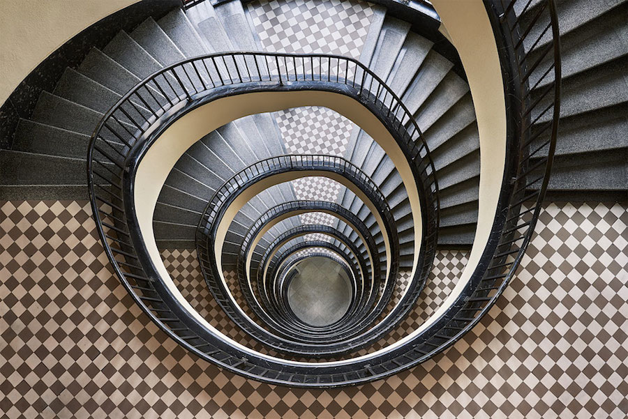 Explore Spiral and Geometric Budapest's Bauhaus staircases by Balint Alovits 2 Explore Spiral and Geometric Budapest's Bauhaus Staircases Shot From Above