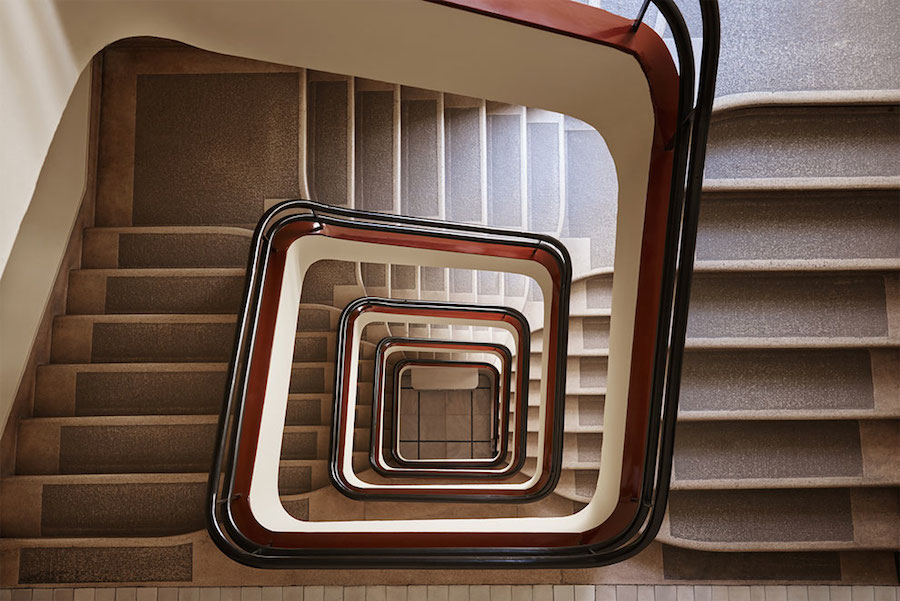 Explore Spiral and Geometric Budapest's Bauhaus staircases by Balint Alovits 3 Explore Spiral and Geometric Budapest's Bauhaus Staircases Shot From Above