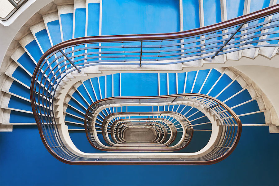 Explore Spiral and Geometric Budapest's Bauhaus staircases by Balint Alovits Explore Spiral and Geometric Budapest's Bauhaus Staircases Shot From Above